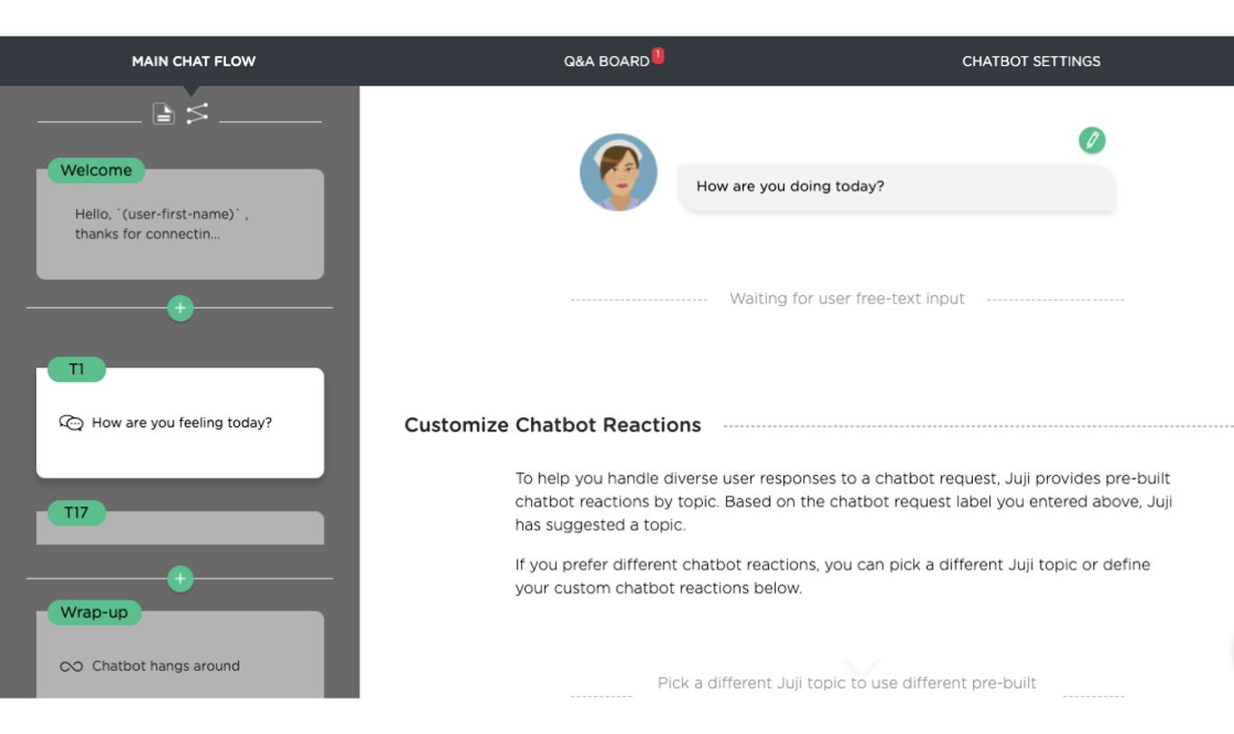 chatbot use case: chatbot flow design for healthcare chatbot