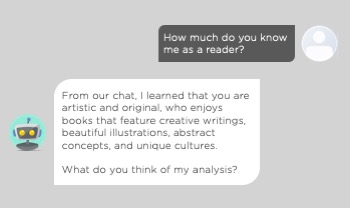 An example showing a chatbot giving its analysis of a user